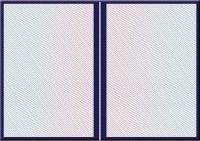 Твердая обложка для диплома о ВЫСШЕМ образовании (большая А4, синяя) (Арт:ДВБ-38)