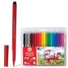 Фломастеры KOH-I-NOOR, 18 цветов, смываемые, трехгранные, пластиковая упаковка, европодвес, 771002AH04TERU