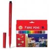 """Фломастеры KOH-I-NOOR """"Рыбки"""", 18 цветов, смываемые, трехгранные, картонная упаковка, европодвес, 771002AH05KS"""
