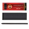 """Уголь искусственный для рисования KOH-I-NOOR, набор 6 шт., """"Gioconda"""", средней мягкости, заточенный, пластиковая коробка, 8673002005PK"""