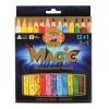 """Карандаши с многоцветным грифелем KOH-I-NOOR, набор 13 шт., """"Magic"""", трехгранные, грифель 5,6 мм, европодвес, 3408013001KS"""