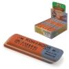 Ластик KOH-I-NOOR 6521/80, 57x14x8 мм, красно-синий, прямоугольный, скошенные края, натуральный каучук, 6521060010KDRU