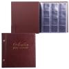 """Альбом для монет и купюр на винтах универсальный, 224х224 мм, на 216 монет до D - 45 мм, выдвижные карманы, коричневый, """"ДПС"""", 2855-204"""