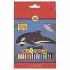 """Карандаши цветные 36 ЦВЕТОВ KOH-I-NOOR """"Animals"""", заточенные, 3555/36"""