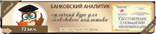 Учебный курс «Банковский аналитик»